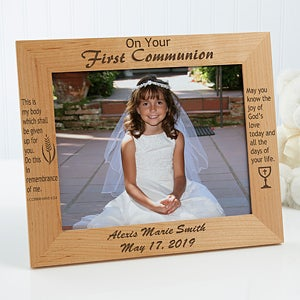 Personalized First Communion Wood Picture Frame - 1202