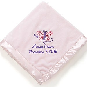 Personalized Baby Blankets for Girls - Baby Love - 12027