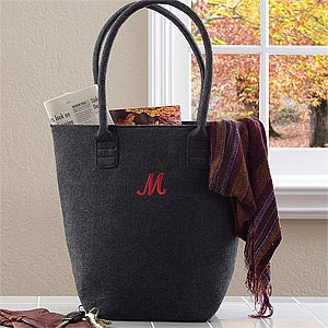 Personalized Felt Tote Bags - The Charlotte - 12031