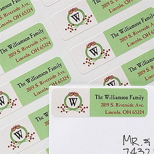 Family Return Address Label - Life Together Monogram - 12035
