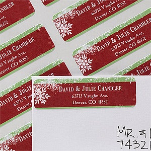 Personalized Return Address Labels - Holiday Bliss - 12036
