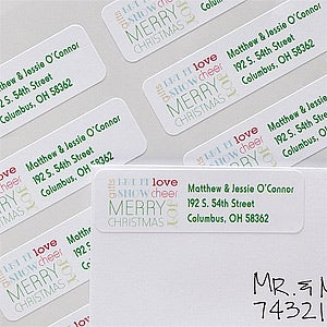 Personalized Return Address Labels - All About Christmas - 12041