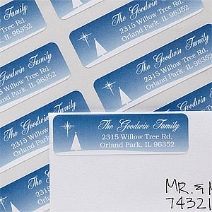 Personalized Return Address Labels - Christmas Blessing - 12052