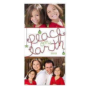 Personalized Holiday Photo Postcards - Peace On Earth - 12056