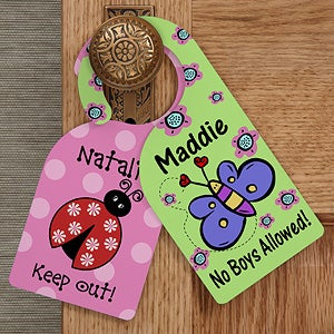 Personalized Door Knob Hanger for Girls Bedroom - 12060