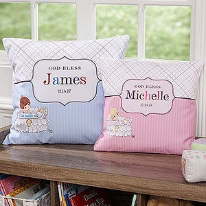 Personalized Christening Pillows - Precious Moments - 12065
