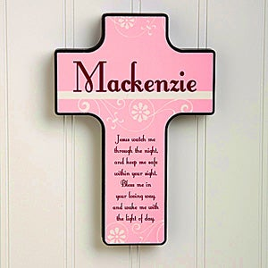 Personalized Kids Wall Cross - Keep Me Safe - 12076