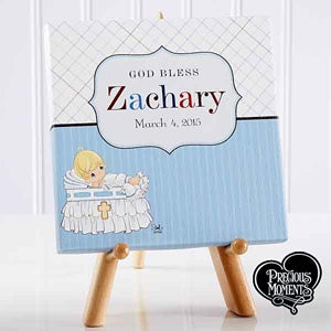 Personalized Baby Christening Canvas Print - Precious Moments - 12084