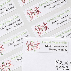 Personalized Address Labels - Peace On Earth - 12087