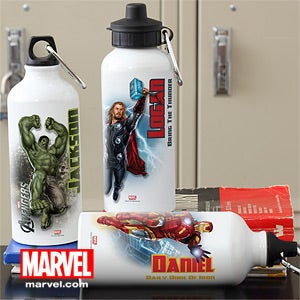 Personalized Avengers Water Bottle - Iron Man, Hulk, Captain America, Thor - 12095