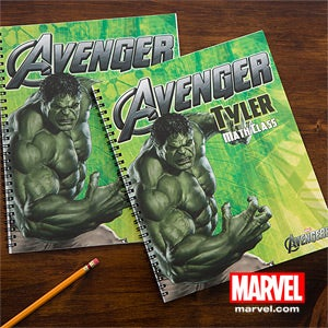Personalized Avengers Notebooks - Iron Man, Hulk, Captain America, Thor - 12096