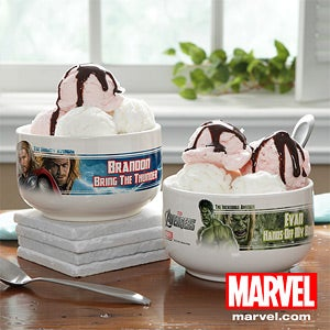 Personalized Avengers Bowl - Iron Man, Hulk, Thor, Captain America - 12098