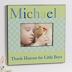 personalized baby boy picture frames just for them 12105