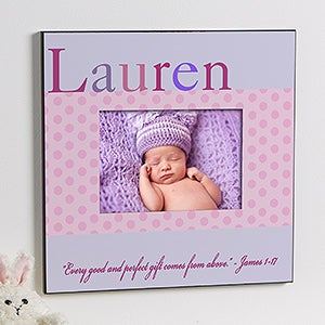 personalized baby girl picture frames just for them 12107