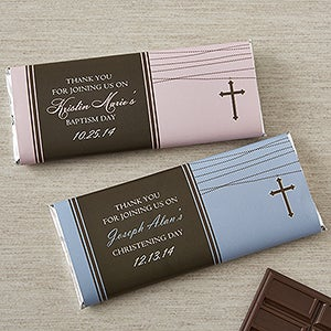 Personalized Christening Favors - Candy Bar Wrappers - 12109