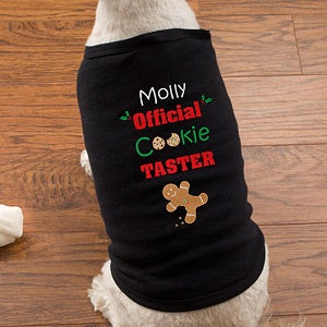 Personalized Christmas Dog Shirts - Christmas Cookies - 12144