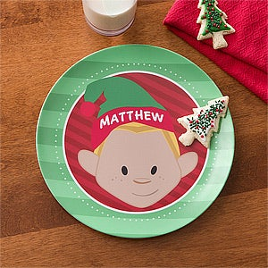 Personalized Kids Dinnerware - Christmas Characters - 12151D & Personalized Kids Plates - Christmas Characters - Christmas Clearance
