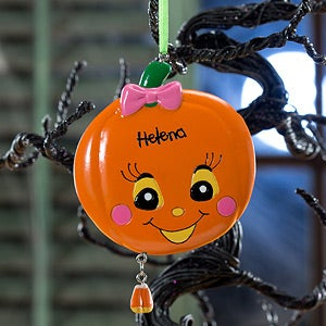 Personalized Halloween Ornaments - Miss Pumpkin - 12153