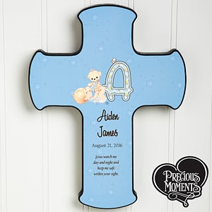 Personalized Precious Moments Baby Wall Cross - 12160
