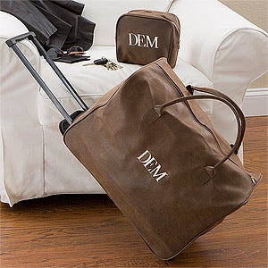 Personalized Luggage Set - Wheeled Suitcase & Toiletry Bag - 12167