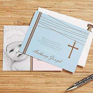 Personalized Thank You Cards - God Bless Baby - 12170