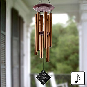 Personalized Wind Chimes - Engraved Family Name - 12175