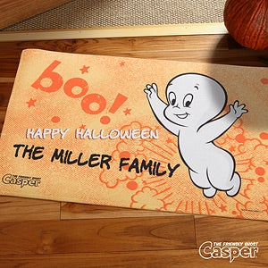 Personalized Casper The Friendly Ghost Halloween Doormat - 12177