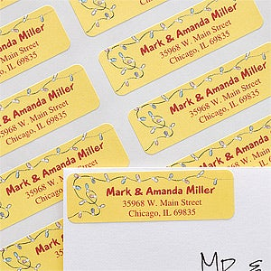 Personalized Address Labels - Christmas Lights - 12183