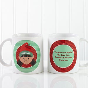 Personalized Kids Christmas Mugs & Hot Cocoa - 12194