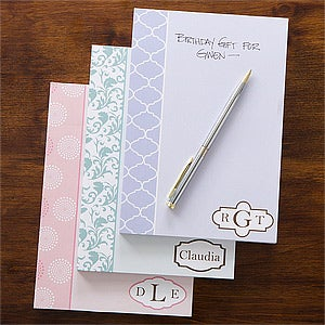 Personalized Notepads for Women - Trendy Signature - 12211