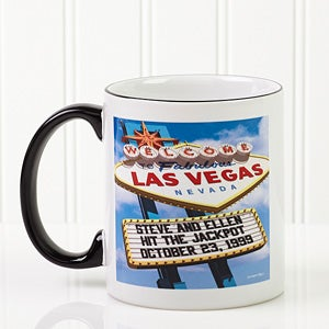 Welcome To Las Vegas Personalized Coffee Mug - On Sale Today!