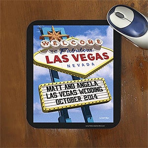 Personalized Mouse Pads - Welcome To Las Vegas - 12216