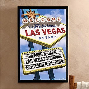 Personalized Canvas Wall Art - Welcome To Las Vegas - 12217