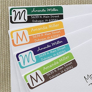 Personalized Return Address Labels - You Name It Monogram - 12220