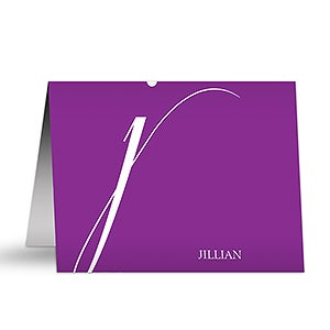 Personalized Note Cards - Stylish Monogram - 12221