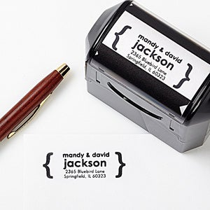 Personalized Self-Inking Address Stamp - Modern Quotes - 12223