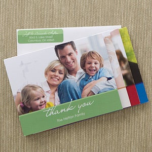 Personalized Photo Thank You Note Cards - 12225