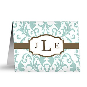 Personalized Note Cards - Trendy Signature - 12229