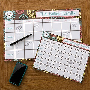 personalized desk pad calendars simply organized