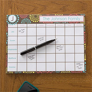 Personalized Desk Pad Calendars - Simply Organized - 12231