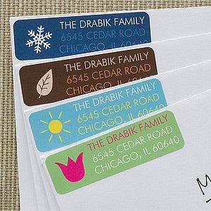 Personalized Return Address Labels - Four Seasons - 12233