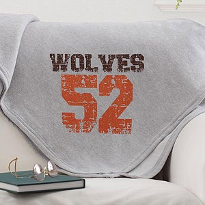 Personalized Sports Jersey Blankets - Name Your Number - 12237