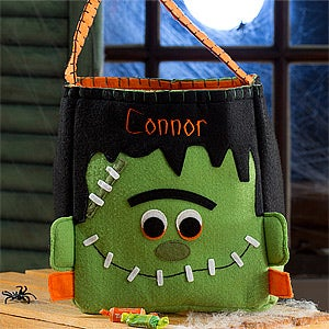 Personalized Halloween Trick or Treat Bags - Frankenstein - 12244