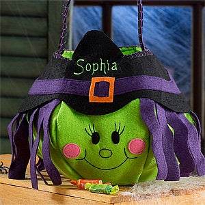 Lil' Witch Embroidered Trick or Treat Bag - 12245