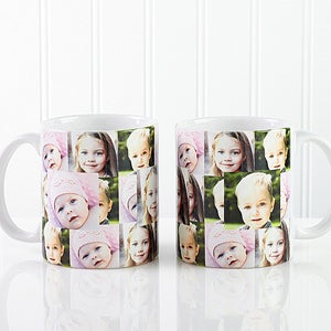 Personalized Photo Coffee Mug - 3 Picture Collage - 12247