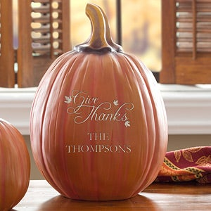 Personalized Fall Pumpkin Decorations - Give Thanks - 12253