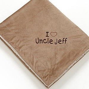 Personalized Sherpa Fleece Blanket for Him - Warm Heart - 12254