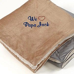 Carter's Sea Embroidered Applique Fleece Blanket Bedding
