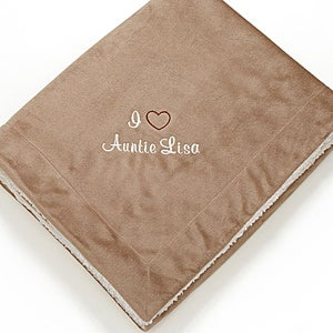 Personalized Sherpa Fleece Blanket for Her - Warm Heart - 12257