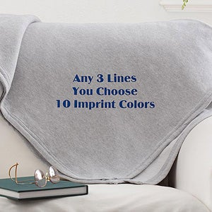Personalized Fleece Sweatshirt Blankets - Custom Text - 12262